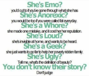 you dont know their story dont judge
